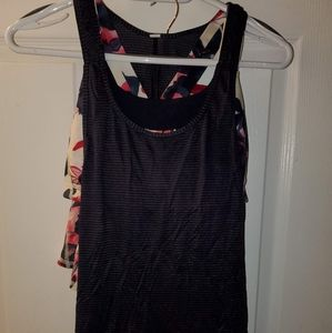 Lululemon Inky Floral Pace Setter & Matching Tank